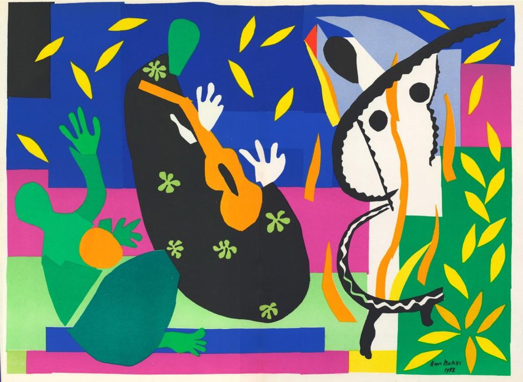 Henri-Matisse-Sorrow-of-the-King-1952-via-The-Tate